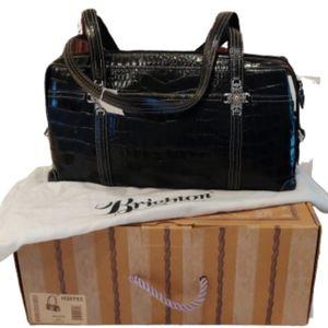 Brighton Anna Rosa Black Leather Purse. EUC
